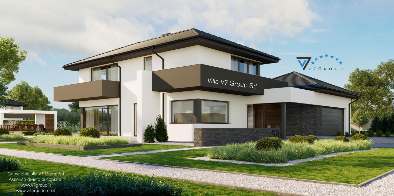 Immagine Villa V59 - vista frontale laterale grande