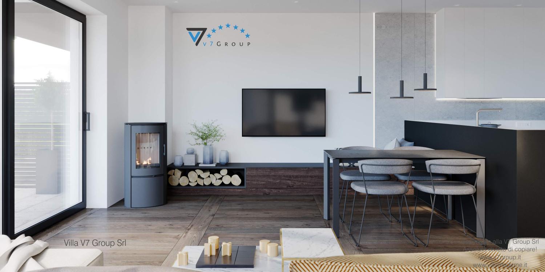 Immagine Villa V61 (D) - interno 2 - soggiorno e tv
